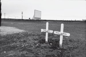 Wim Wenders: Twin graves and drive-in cinema, Marfa, Texas, 1983