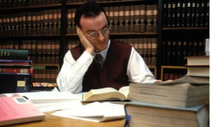 Law student studying