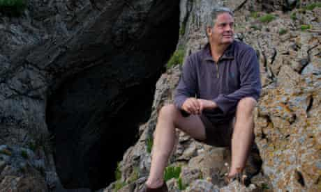 Stephen Moss at Paviland Cave in the Gower, south Wales