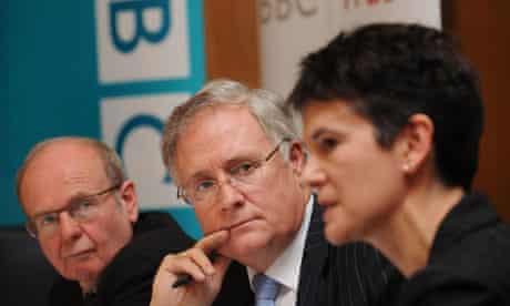 Sir Michael Lyons (centre), chairman of the BBC Trust