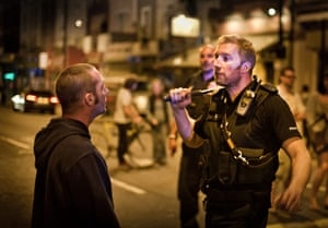 Tesco riots in Bristol: Police officers at the scene