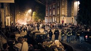 Tesco riots in Bristol: Police confront squatters in the Stokes Croft area