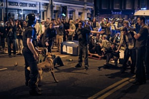 Tesco riots in Bristol: Demonstrators confront police in the street