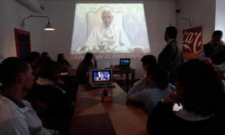 Pope Benedict on TV