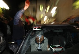 Misrata Libya: A rebel fighter cries following the death of one of the rebel commanders
