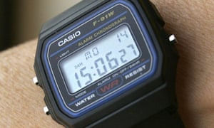 The Casio F-91W wristwatch