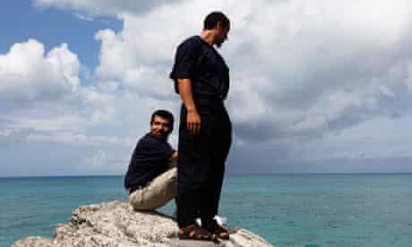Chinese Uighur detainees from Guantánamo, Khelil Mamut, right, and Salahidin Abdulahat