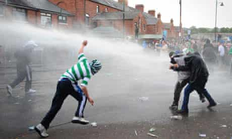 Rioters in north Belfast