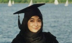 Pakistani scientists Dr Aafia Siddiqui in a graduation photo