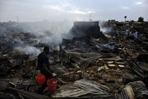 24 hours: Kafanchan central market after an arson attack in Nigeria