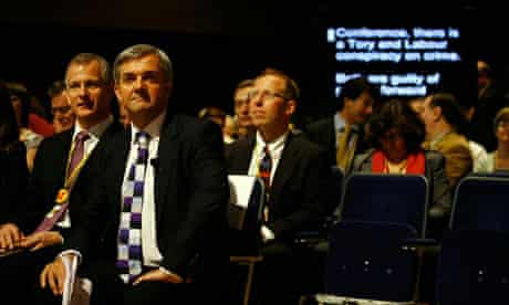 Chris Huhne at the Liberal Democrat conference