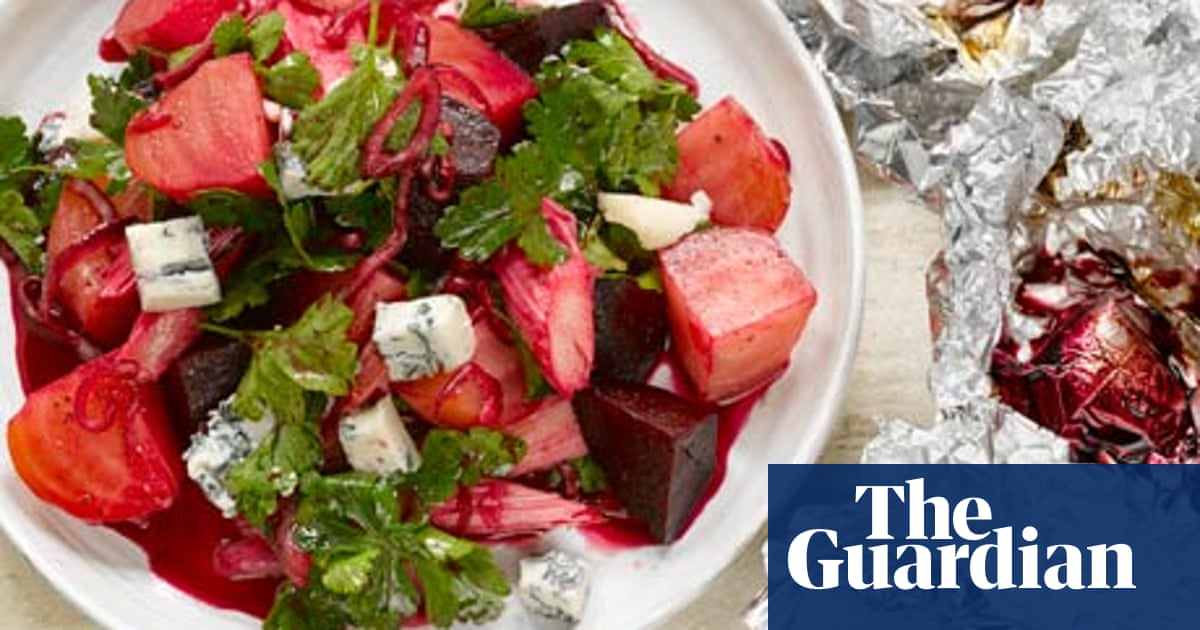 Beetroot And Rhubarb Salad Recipe Plus Stuffed Artichokes With Peas