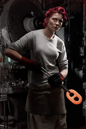Brian Griffin Exhibition: Female Chainmaker, 2010 exhibited in Walsall