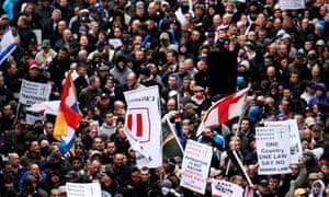 EDL demonstration in Luton