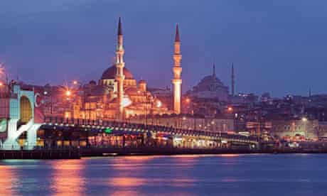 Istanbul's Galata bridge.