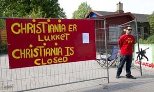 The closed entrance to Christiania, Copenhagen