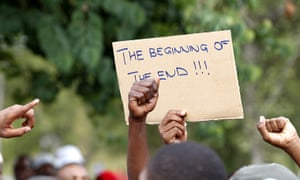 Africa Unrest: Protesters take part in a march in Mbabane, Swaziland