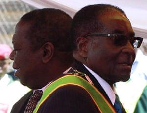 Africa Unrest: Zimbabwean President Robert Mugabe and Prime Minister Morgan Tsvangirai