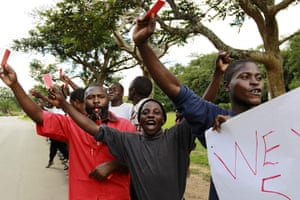 Africa Unrest: Protesters display their displeasure with the government in Zambia