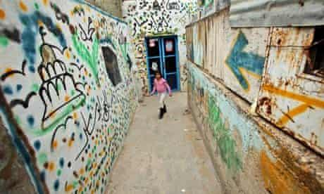 A Palestinian girl in an alley in Silwan, east Jerusalem