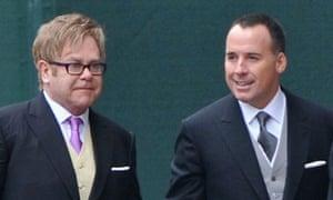 Royal Wedding: Elton John and David Furnish arrive