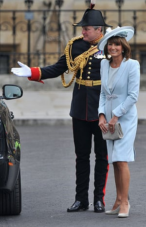 Wedding guests: Mother of the bride Carole Middleton arrives to attend the Royal Wedding