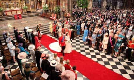 Royal Wedding: Prince William and Kate walk down the aisle