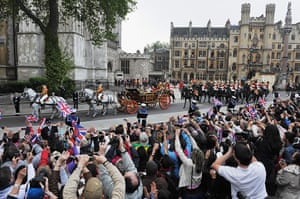 Wedding procession: Royal Wedding - Carriage Procession To Buckingham Palace And Departures