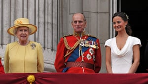 Wedding procession: Queen Elizabeth II, the Duke of Edinburgh and Pippa Middleton