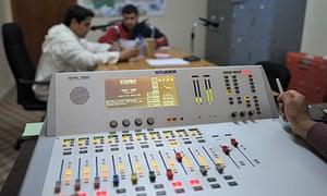 Good Morning Libya being broadcast on Radio Free Libya from Misrata