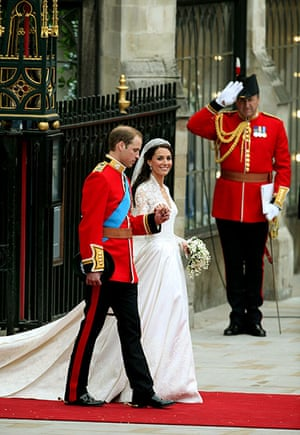 Wedding procession: Prince William and Kate Middleton leave Westminster Abbey