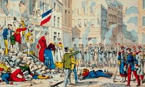 <Insurrection de Paris, La Delivrance> Lithograph