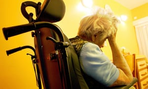 A patient at a hospital for patients with Alzheimer's disease