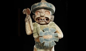 Mayan-style warrior statue