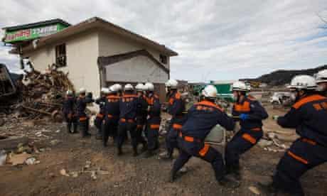 Police help remove debris