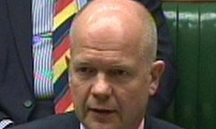 William Hague delivers a statement on Libya to the House of Commons
