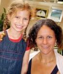 Imogen with her auntie Sara Sheridan
