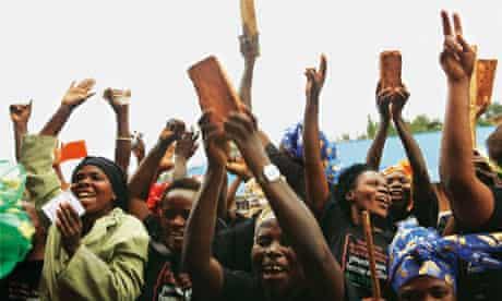City of Joy women celebrate