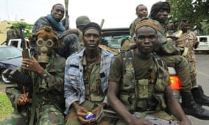 Pro-Ouattara fighters of Ivory Coast