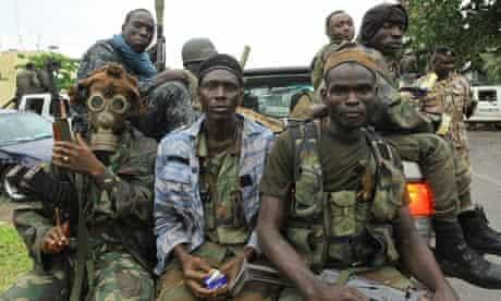Pro-Ouattara fighters of Ivory Coast