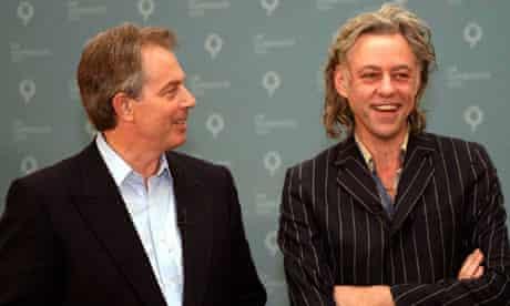 Tony Blair and Bob Geldof
