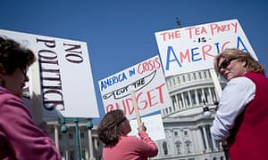 Tea Party activists gather on Capitol Hill in support of spending cuts