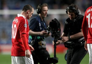 Chelsea v United: Wayne Rooney at the end of the Chelsea match