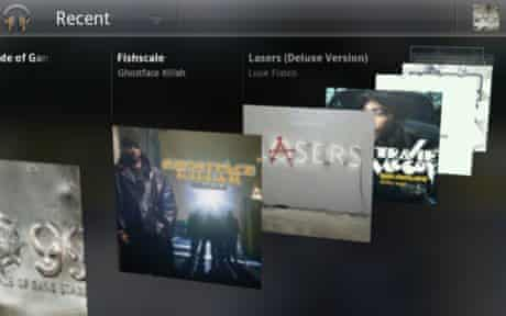 One view of Android Music 3.0, Google's latest mobile music player