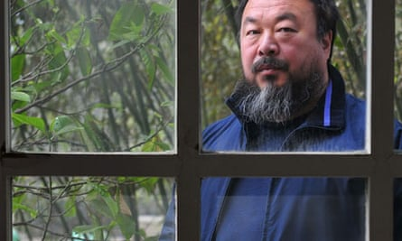 Ai Weiwei at home in April 2009