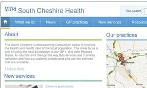 South Cheshire GP consortia website