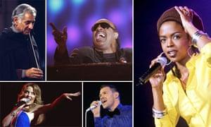 Leonard Bernstein, Stevie Wonder, Lauryn Hill, Kylie Minogue and Will Young