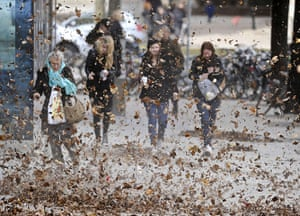 24 hours in pictures: high winds in Stockholm, Sweden