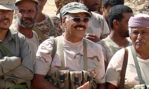 Yemeni general Ali Mohsen during the fight against Huthi rebels in February 2010
