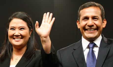 Peruvian presidential candidates Keiko Fujimori and Ollanta Humala